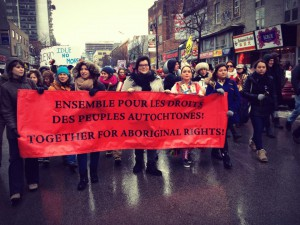 Manifestation Idle no more à Montréal (Photo: auteur inconnu)