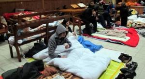 Occupation de l'église réformée de Fives par les sans-papiers grévistes de la faim. (Photo: inconnu)