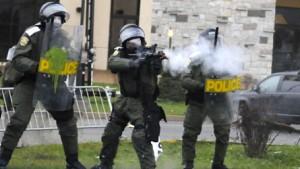 Balles de plastique tirées par les policiers, Victoriaville, 2012. (Photo: inconnu)