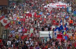 Manifestation étudiante, Montréal, 22 mai 2012. (Photo: inconnu)