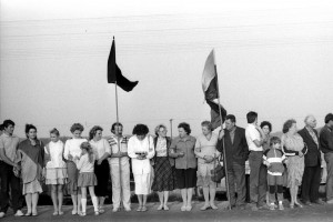 1989-08-23: Baltic Way was a human chain of approximately two million people dedicated to liberating the Baltic Republics from the USSR. (Photo: CC)