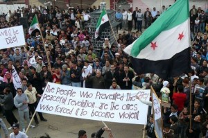 Des Syriens manifestent contre le régime à Dael, dans la province de Deraa. (Photo: Syrian Revolution)