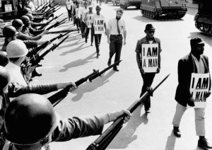 29 mars 1968: Memphis, Tennessee, action non-violente pour les droits civils. (Photo: inconnu)