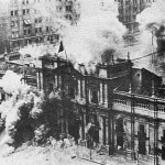 L'attaque du palais de la Moneda lors du coup d'état en Chili 1973. (Photo: domaine public)