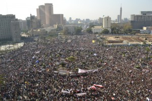 Egypt's Tahrir Square packed with protestors at the beginning of the 18-day-old revolution, which has now succeeded in bringing down a dictator (Photo courtesy publicintelligence.net)