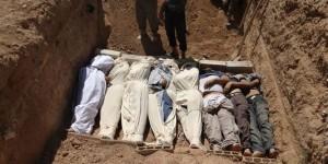 Enterrement de victimes de l'attaque chimique par le régime syrien le 21 aout 2013 dans la banlieu de Damas. (Photo: inconnu)