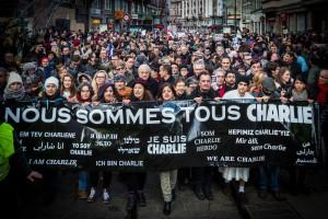 """Manifestation """"Je suis Charlie"""", janvier 2015."""