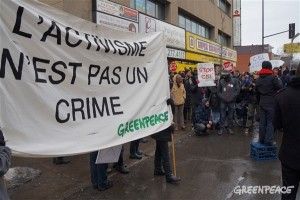 Journée d'action nationale contre le C-51, Montréal 14 mars 2015. (Photo: Greenpeace)