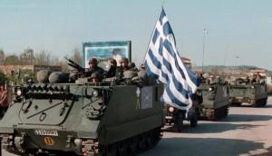Char d'assaut grec. (Photo: SAMA/SIPA)