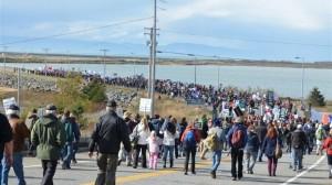Marche contre le projet d'oléoduc Transcanada. (Photo: Mario Pelletier)